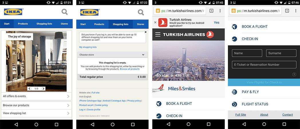 Ikea Turkish Airline adaptive web design
