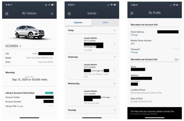 mercedes benz mobile app bug