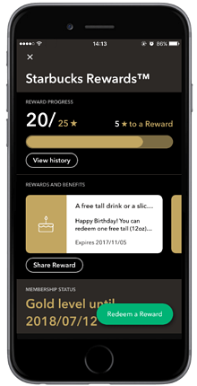 L'application mobile de Starbuck's