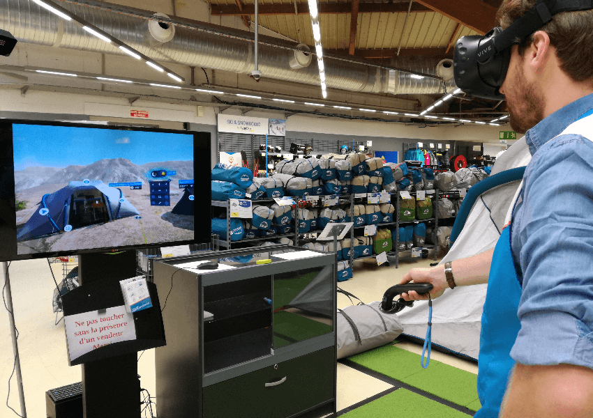 VR experience in store allows customers to visualize what life could be like with a product