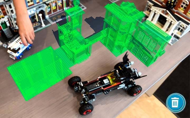 Lego, par exemple, a lancé une application mobile qui permet aux clients de jouer avec des legos virtuels dans le monde réel.