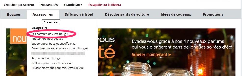 Une erreur de traduction sur un site web.